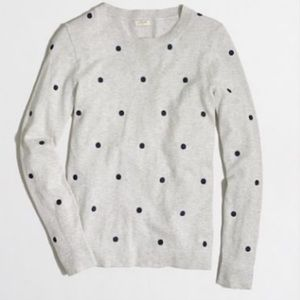 Banana republic petite small polka dot crew neck
